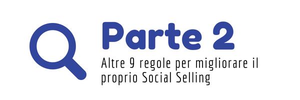 regole per il Social Selling