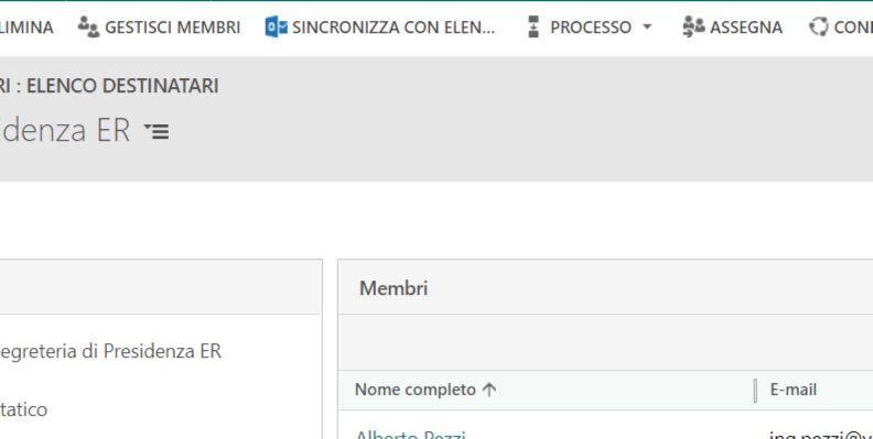 condividere gli elenchi di contatti delle Outlook Web App